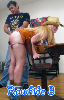 Naked Woman Spanked