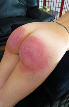 Women with red bottoms getting spanked